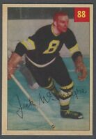 1954-55 Parkhurst Boston Bruins Hockey Card #88 Jack McIntyre