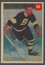 1954-55 Parkhurst Boston Bruins Hockey Card #88 Jack McIntyre