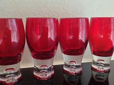 Ruby Red Glassware Drinking Glass Goblet Set