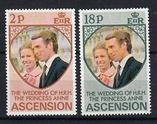 Ascension Island 1973 Matrimonio Principessa Anna con Mark Phillips MNH