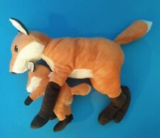 Plush Pair of Red Foxes Adult with Young