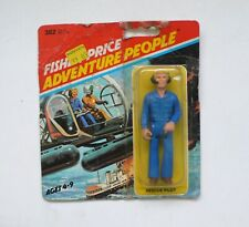 Vintage Fisher Price Adventure People RESCUE PILOT carded 1979 USA