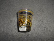( SG2 )  SHOT GLASS - MISSOURI - YELLOW IMPRINT