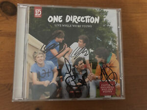 One Direction Live While We're Young Signed CD