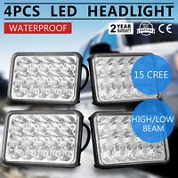 80 Series LED headlight 4 x 6 Inch led Headlights 60 SERIES Square H4 Work Light