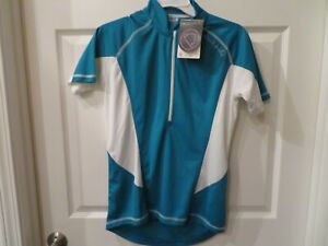 NWT Misses Teal Green Endura Pulse Cycling Jersey, Size L