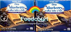 2 Packs Trader Joe's This Blueberry Walks Into A Bar Cereal Bars 7.8 oz Each