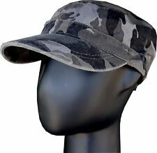 Black Urban Camouflage Westrooper Cap Adjustable Forage Cap Duckbill Peak Cap