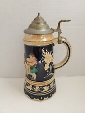 Vintage Beer Stein With Lid and Music Box Made in West Germany