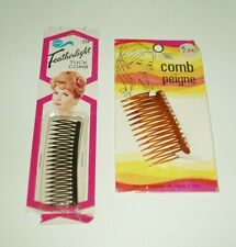 VINTAGE HAIR TUCK + SLIDE COMB ACCESSORIES BLACK & BROWN NEW OTHER