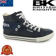 BRITISH KNIGHTS ROCO FOLD FUR MEN HIGH TOPS SHOES TRAINERS SNEAKERS NAVY=SIZE 7