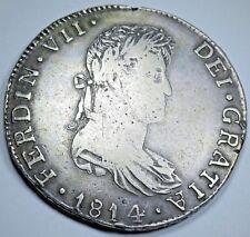 1814 Ga MR Guadalajara 8 Reales Coin Mexico Spanish Silver Piece of Eight Real