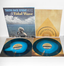 TAKING BACK SUNDAY Tidal Wave DOUBLE LP Blue Swirl Vinyl Record with Poster