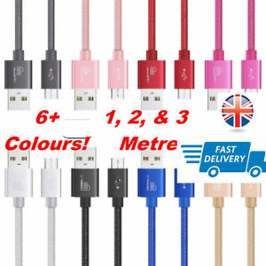 Long Metal Heavy Duty Braided Micro USB Charger Data Cable For Android