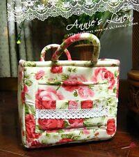 Rot Garten Rose Laura Ashley Tolle Picknick-lagerung/Wäschekorb/Tasche B10