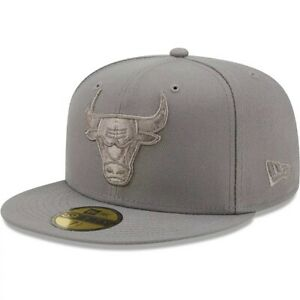 Chicago Bulls Hat New Era 59Fifty Gray Out Color Pack Fitted 7-3/8 1/2 5/8