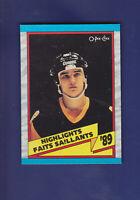 Mario Lemieux Highlights HOF 1989-90 O-PEE-CHEE OPC Hockey #327 (NM+) Penguins