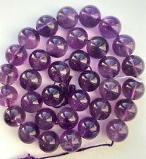 "16"" Strand Genuine & Big 12mm Amethyst Round Beads - Beautiful - Quality"