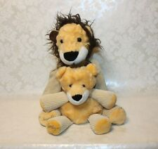 "Scentsy Buddy Lot of 2 Roarbert Lion 15"" & 9"" Baby Plush [No Scent Pak]"