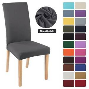 Universal Stretchy Elastic Dining Chair Covers Seat Slipcovers Home Party Decor