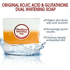 3 Bars of Kojic Acid & Glutathione Dual Whitening/Bleaching Soap - NEW LOW PRICE