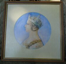 More details for richard o'connell- unsigned  print queen victoria young head 1847 gothic crown
