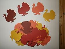 30 Fiskars Turkey Paper Die Cut Punches Table Confetti Cake Toppers Fall Colors