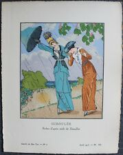 Louis STRIMPL Pochoir Art Déco ORIGINAL N°6 pl. VII - 4/1913 GAZETTE DU BON TON