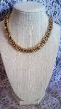 Heavy Gold-Tone Decorative Link Necklace CL5-5G
