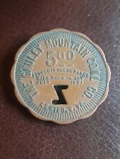 Coal Scrip Token The Gauley Mountain Coal Co. Fayette Co. Ansted W. V.A $5.00