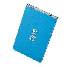 Bipra 100GB 2.5 inch USB 2.0 FAT32 Portable Slim External Hard Drive - Blue