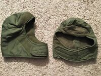 Lot Of 2 Vietnam Era Us Army Cold Weather Cap Insulating Helmet Liner Size 6 3/4
