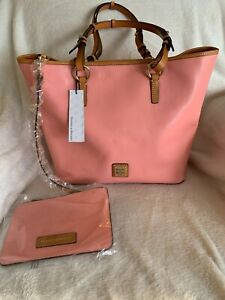 Dooney & Bourke Smooth Leather Shoulder Bag - Brianna, Pale Pink, New with Tags