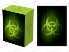 100 LEGION SUPER ICONIC BIOHAZARD MATTE DECK PROTECTORS w/ DECK BOX Green Sleeve