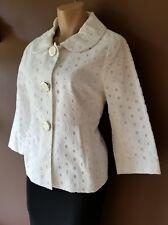 Lilly Pulitzer white button down jacket, Sz 10