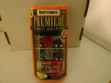 MATCHBOX SUPERFAST PREMIERE 2 CAR SET 1ST EDITION KENWORTH T-2000 LIMITED