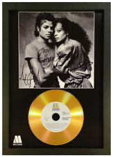MICHAEL JACKSON WITH DIANA ROSS SIGNED GOLD DISC RECORD DISPLAY
