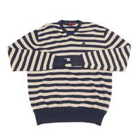 KAPPA Striped Woolen Sweater | Medium | Jumper Top Pullover Retro Vintage