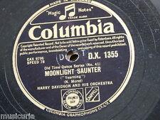 "78rpm 12"" HARRY DAVIDSON ORCH moonlight saunter / the gay gordons DX 1355"