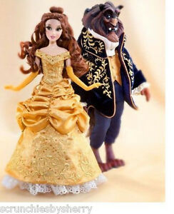 Disney Fairytale Belle and Beast Doll Designer Collection Couple Gift Bag LE New