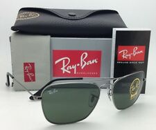 New RAY-BAN Sunglasses CARAVAN RB 3136 004 55-15 Gunmetal w/ G15 Green lenses