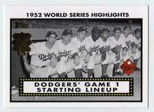 2002 Topps 1952 World Series Highlights Complete Set Lot of 7 Yankees vs Dodgers