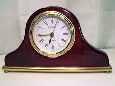 Vintage Cherry Wood Grain Danbury Mantel Clock with Gold Tone Accents