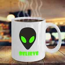 Alien coffee mug - I believe UFO hunter tea cup - extraterrestrial birthday gift