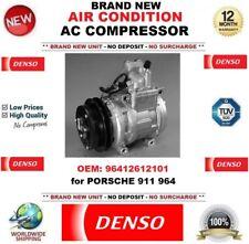 DENSO AIR CONDIZIONE AC COMPRESSORE OEM: 96412612101 per PORSCHE 911 964 Nuovo di Zecca