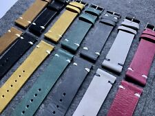 20mm Leather Watch Band Strap (set Of 7) 3mm Thick - Fast Shipping