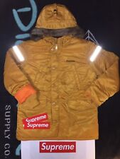 SUPREME REFLECTIVE COSS N-3B PARKA (XL) (YELLOW) FW17 LEATHER NORTH FACE NUPTSE