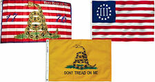 3x5 3'x5' Wholesale Combo Gadsden 1776 & Gadsden Yellow & Nyberg III Flags Flag
