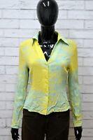 Camicia CARACTERE Donna Taglia Size M Maglia Shirt Woman Manica Lunga Elastico