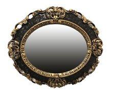 Wandspiegel Spiegel SCHWARZ GOLD OVAL 45x38 BAROCK Antik REPRO Vintage 345 88*